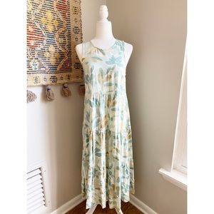 A New Day Printed Tiered Maxi Dress